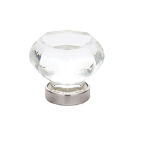 Emtek 86010, 86011 Old Town Clear Cabinet Knob Satin Nickel (US15)