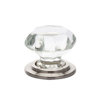 Emtek 86028 Old Town Clear Wardrobe Knob Satin Nickel (US15)