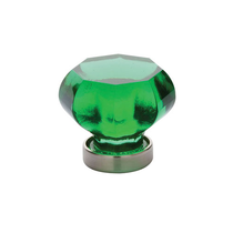 Emtek 86070 Old Town Emerald Cabinet Knob Satin Nickel (US15)