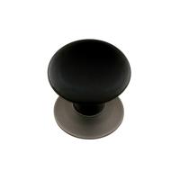 Emtek 86009,86033 Ebony Porcelain Cabinet Knob w/Pewter (US15A) Base