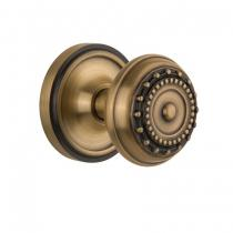 Nostalgic Warehouse Meadows Knob with Classic Rose Antique Brass