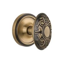 Nostalgic Warehouse Victorian Knob Privacy Mortise with Classic Rose AB