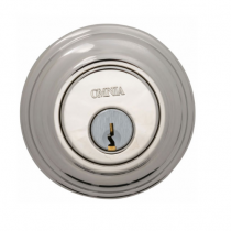 Omnia COLDB Colonial Auxillary Deadbolt from the Prodigy Collection Polished Nickel