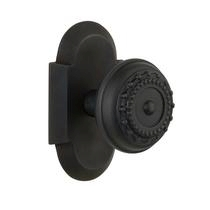 Nostalgic Warehouse Cottage Plate with Meadows Knob Oil Rubbed Bronze