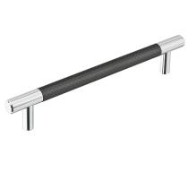 Emtek Black Carbon Fiber Black Bar Cabinet Pull