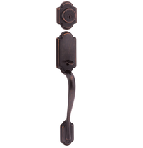 Weiser Columbia Handleset shown in Venetian Bronze (11P)