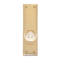 Brass Accents D07-K540 Quaker Decorative Plate with Empire Knob