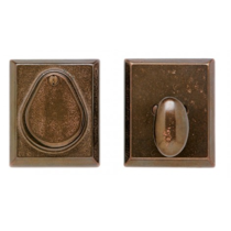 Rocky Mountain DB507 Rectangular Dead Bolt shown in Silicon Bronze Medium Patina