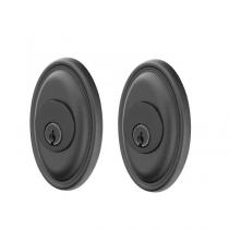 Emtek 8373 #14 Style Double Cylinder Deadbolt Flat Black Patina (FB)