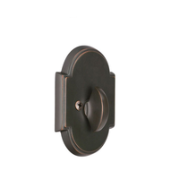 Emtek 8566 #8 Style Single Sided Deadbolt Oil Rubbed Bronze (US10B)