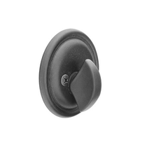 Emtek 8556 Tuscany Style One Sided Deadbolt Flat Black Patina (FB)