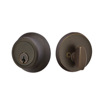 Emtek 8450-BZ Bronze Regular Style Single Cylinder Deadbolt Medium Bronze Patina