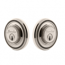 Grandeur Soleil Double Cylinder Deadbolt Polished Nickel