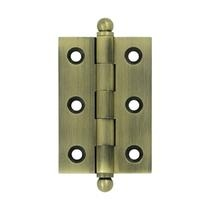 "Deltana 2 1/2"" x 1 11/16"" Cabinet Brass Hinges w/Ball Tips (Pair) CH2517"