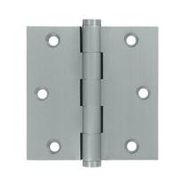 "Deltana 3 1/2"" x 3 1/2"" Square Corner Residential Brass Hinges DSB35R"