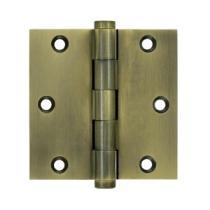 "Deltana 3 1/2"" x 3 1/2"" Square Corner Standard Brass Hinges DSB35"