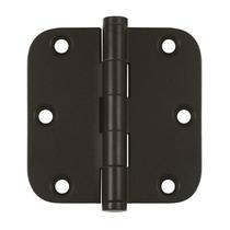 "Deltana 3 1/2"" x 3 1/2"" Radius Corner Residential Solid Brass Hinges DSB35R4-R"