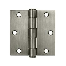 "Deltana 3 1/2"" x 3 1/2"" Square Corner Heavy Duty Steel Hinges S35HD"