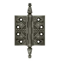 "Deltana 3 1/2"" x 3 1/2"" Square Corner Ornate Solid Brass Hinges DSBP35U"