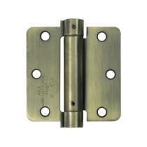 "Deltana 3 1/2"" X 3 1/2"" Radius Corner Spring Steel Hinge DSH35R4/DSH35R5"