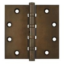 "Deltana 4 1/2"" x 4 1/2"" Square Corner Ball Bearing Distressed Hinges DSB45NB"