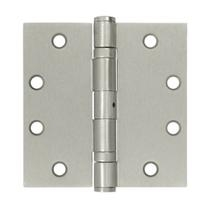 "Deltana 4 1/2"" x 4 1/2"" Square Corner Ball Bearing Heavy Duty Steel Hinges-NRP"
