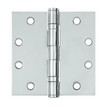 "Deltana 4 1/2"" x 4 1/2"" Square Corner Ball Bearing Heavy Duty Steel Hinges S45BB"