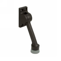 "Deltana DHK4 Solid Brass 4"" Kickdown Door Holder in Oil Rubbed Bronze (US10B)"