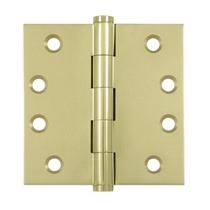 "Deltana 4"" x 4"" Square Corner Solid Brass Hinges (Pair) DSB4"