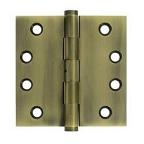 "Deltana 4"" x 4"" Square Corner Solid Brass Hinges with Non Removable Pin DSB4N"