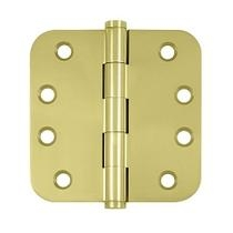 "Deltana 4"" x 4"" Radius Corner (5/8"") Residential Solid Brass Hinges DSBR5R"