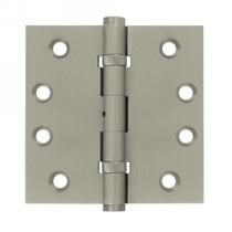 "Deltana 4"" x 4"" Square Corner Ball Bearing Solid Brass Hinges with Non Removable"