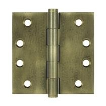 "Deltana 4"" x 4"" Square Corner Solid Brass Distressed Hinges DSB4"