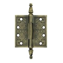 "Deltana 4"" x 4"" Square Corner Ornate Solid Brass Hinges DSBP44U"