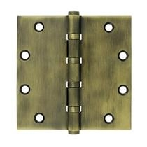 "Deltana 5"" x 5"" Square Corner Ball Bearing Solid Brass Hinges DSB55B"