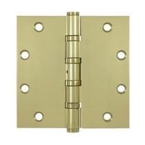 "Deltana 5"" x 5"" Square Corner Ball Bearing Solid Brass Hinges NPR DSB55NB"