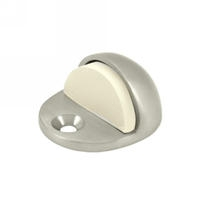 "Deltana 1"" Floor Mounted Dome Stop in Satin Nickel"