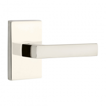 Emtek Dumont Modern Lever Set with Modern Rectangular Rose Polished Nickel