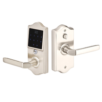 Emtek E4002 EmTouch Classic Style Electronic Leverset in Satin Nickel