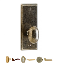 Rocky Mountain EB55 Escutcheon shown with Small Potato Knob