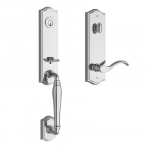 Baldwin Reserve New Hampshire Handleset shown in Polished Chrome (260)