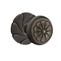 Emtek Petal Door knob with #17 Rose Medium Bronze Patina (MB)