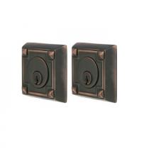 Emtek 8354 Arts and Crafts Double Cylinder Deadbolt Oil Rubbed Bronze (US 10B)