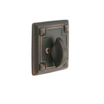 Emtek 8554 Arts & Crafts Style Single Sided Deadbolt Oil Rubbed Bronze (US10B)