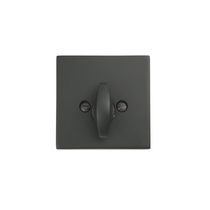 Emtek 8569 Square Style Single Sided Deadbolt Flat Black (US19)