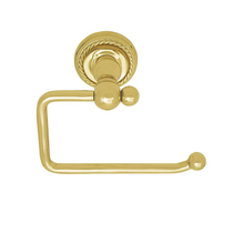 Emtek 2604 Brass Bar Paper Holder with Rope Rose Polished Brass (US3)