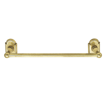 Emtek 26021, 26022, 26023 Brass Towel Bar with #8 Rose French Antique