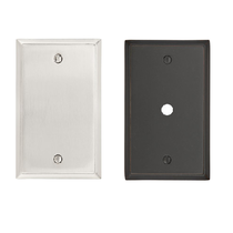 Emtek 29151, 29161 Colonial Plate Satin Nickel (US15)/Oil Rubbed Bronze (US10B)