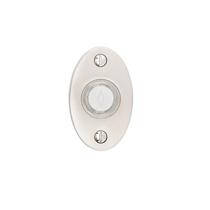 Emtek Door Bell Button w/Small Oval Rose Satin Nickel (US15)