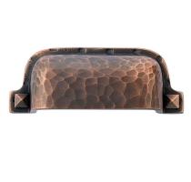 Emtek 86049 Hammered Bin Pull Oil Rubbed Bronze (US10B)